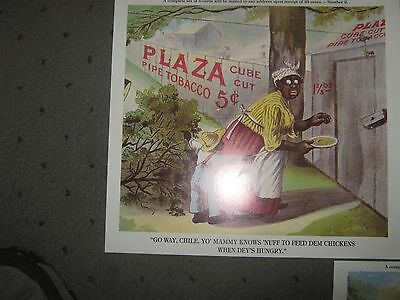 5-Poster/ Pictures  Black Americana Tobacco Picture   11-1/2 X 10-1/2