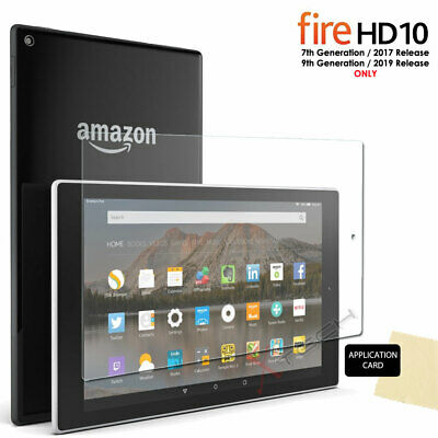 1x CLEAR Screen Protector Cover for Amazon Fire HD 10 2017 Alexa 7th Gen