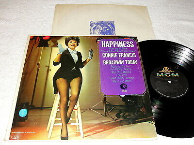 """Connie Francis """"Happiness"""" 1967 Pop LP, Nice VG++!, MGM 1970's Reissue"""