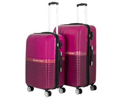 Pierre Cardin 2-Piece 8W Hardcase Luggage Set - Berry