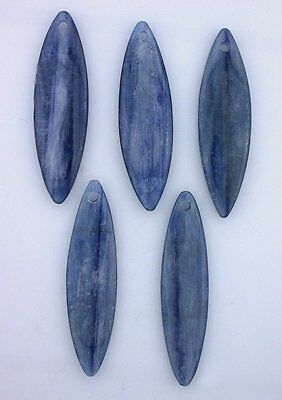ONE 57mm to 59mm 21/4+ Inch Long Marquise Natural Kyanite Gemstone Gem Bead 6406