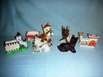 6 Vintage Scottie Dog Porcelain/Pottery Figurines