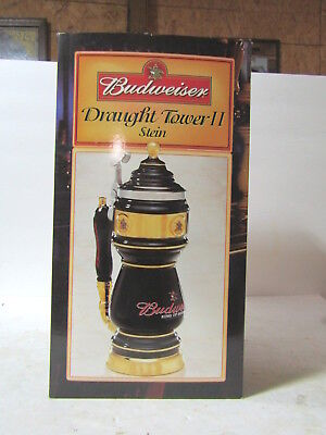 Black Budweiser Draught Tower II Stein CS542 by Anheuser-Busch New In Box