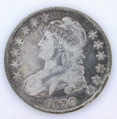 1830 Capped Bust Lettered Edge Silver Fifty 50 Cent Half Dollar YOU GRADE