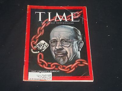 1961 August 25 Time Magazine - East Germany's Walter Ulbricht - T 1811