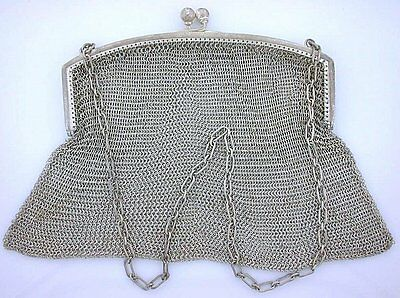 100 YEAR OLD ANTIQUE STERLING SILVER PURSE CLASP HALLMARKED W ebs4098