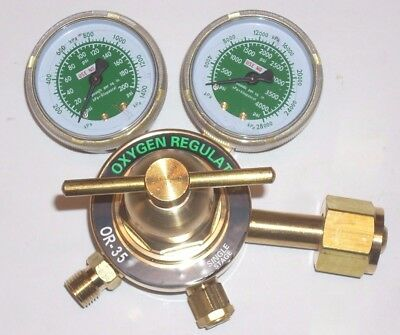 "Oxygen Regulator for Cutting Welding Gas Heavy Duty OR-35 with 2"" Gauges"