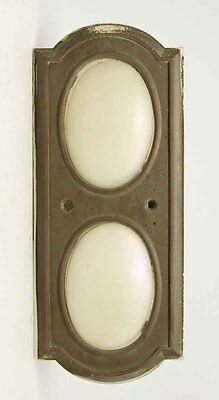 Corning Elevator Light Plate with Opalescent Steuben Glass
