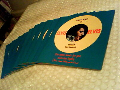 Wholesale Lot Of 10 Elvis Presley Original Rca Promotional Record Catalogs 1977