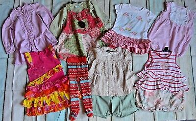 Baby Girls Designer Clothes Bundle Catimini Oilily Ralph Lauren 1 Year Dresses