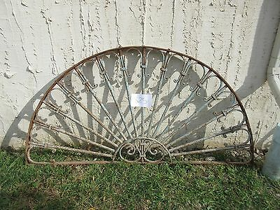 Antique Victorian Iron Gate Window Garden Fence Architectural Salvage #825
