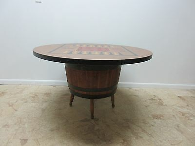 Vintage Low Barrel Keg Game Dining dinette Table