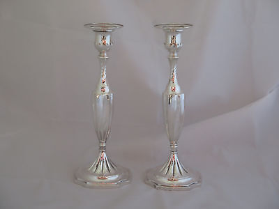 "Pair of Awesome Antique Tiffany Sterling 10"" Candlesticks"
