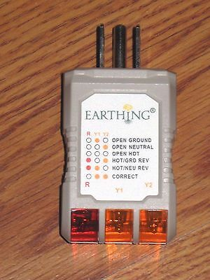 Authentic Earthing Socket Tester Plug Outlet Grounded Safe Electrical Tester '17