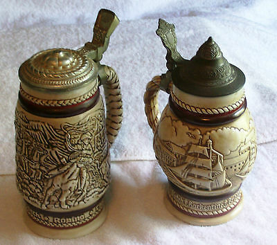 Avon Imported Brazilian Beer Steins 1977&1980 Numbered, Good Shape, Over 35 Y/o