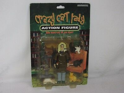 Crazy Cat Lady Action Figure 6 Cats by Accoutrements 2004 NIB #11377 Gag Gift