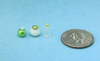 Beautiful Set of 3 Dollhouse Miniature Perfume Bottles for your Vanity #PS59