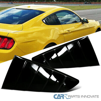 15-18 Ford Mustang GT V6 1//4 Quarter Window Louvers Scoop Cover Matte Black