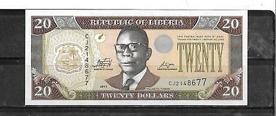 LIBERIA #28f 2011 $20 UNC MINT   NEW BANKNOTE PAPER MONEY CURRENCY BILL NOTE