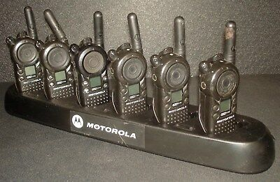 Lot of 6 Motorola CLS1110 UHF 2-Way Radios w/ Charger