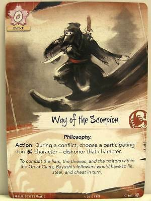 Legend of the Five Rings LCG - 1x #185 Way of the Scorpion - Base Set