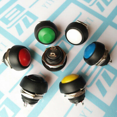 Mini 12mm Waterproof Momentary ON/OFF Push Button Round Switch Durable
