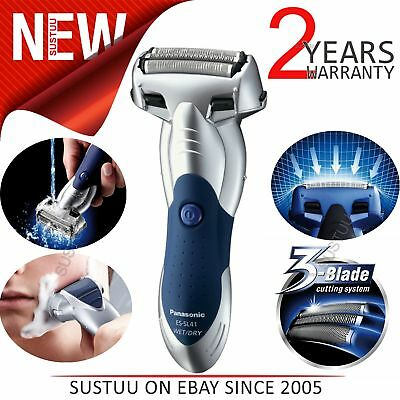 Panasonic ESSL41S 3 Blade Wet/Dry Mens Electric Smart Shaver│Cordless│WR│Silver│