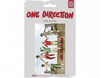 ONE DIRECTION jumping 2012 oblong VINYL STICKER official licensed merchandise