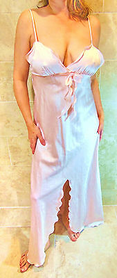 Georgette Trabolsi Gorgeous Vintage Dreamy Pink Silky Long Nightgown M Nwot Evc
