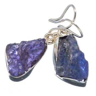 "Tanzanite 925 Sterling Silver Earrings 1 3/8"" Ana Co Jewelry E346853F"