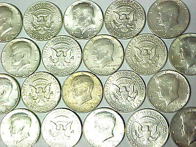 Lot of 20 1964 Kennedy Silver Half Dollars $10 Face Value 90% Silver Coins (tnm)