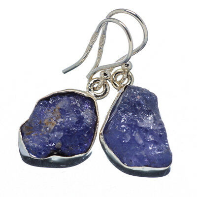 "Tanzanite 925 Sterling Silver Earrings 1 1/4"" Ana Co Jewelry E346880F"