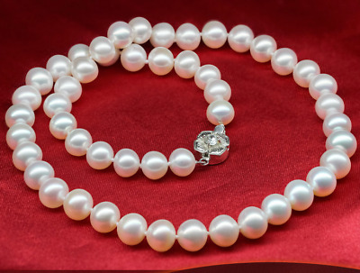 80/%OFF 9-10mm 18//20//22//24//26inch AAA Akoya White Pearl Necklace Handmade