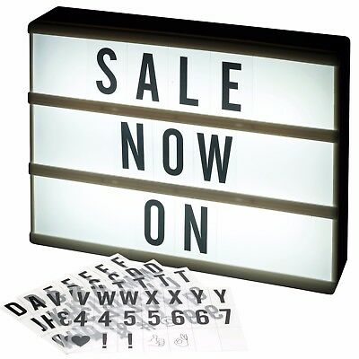 A4 84 Letter LED Light Message Word Display Box Sign Writing Display Board