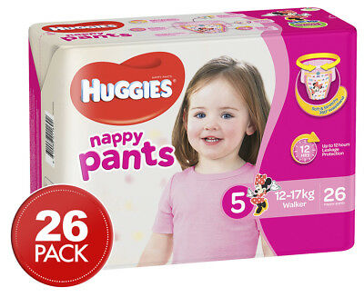 Huggies Nappy Pants For Girls Walker 12-17kg 26pk