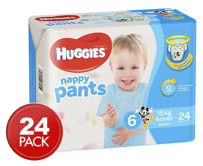 Huggies Nappy Pants For Boys Junior 15kg+ 24pk