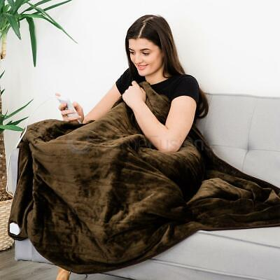 Livivo Heated Electric Over Throw Over Blanket Ultra Soft Warm Miro Fleece With