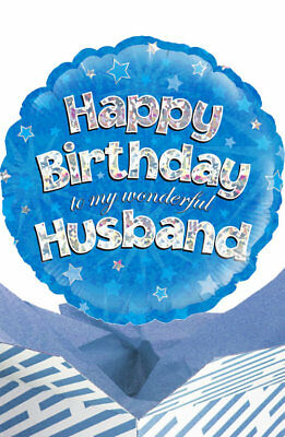 Happy Birthday Husband Balloon In A Box Gift Delivered Personalised Message