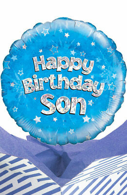 Happy Birthday Son Balloon In A Box Gift Delivered Personalised Message