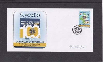 Seychelles 2017 Lions International Centenary First Day Cover FDC