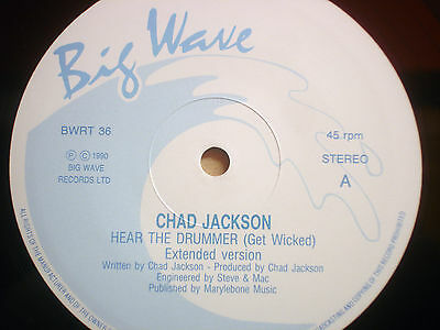 """Chad Jackson - Hear The Drummer Get Wicked  12"""" Monster 1990 Nm"""