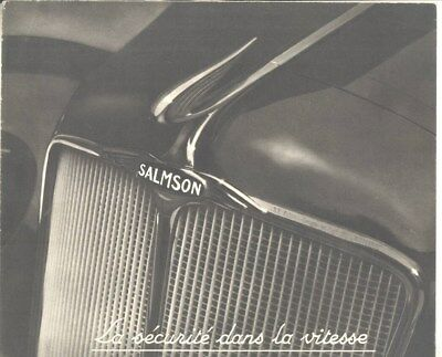 1932 ? Salmson S4-61 S4-E Brochure Poster French  wy7861