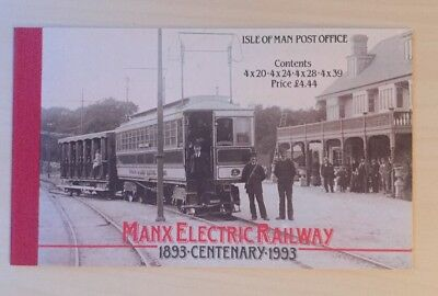 1993 Isle Of Man Stamp Booklet Sb34 'manx Electric Railway' £4.44