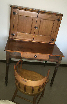 1890s Captain Postal  Plantation Desk  with Chair