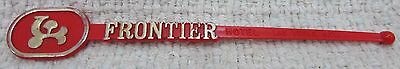 Frontier Hotel Casino Bar Las Vegas Vintage Red Plastic Swizzle Stick FREE S/H