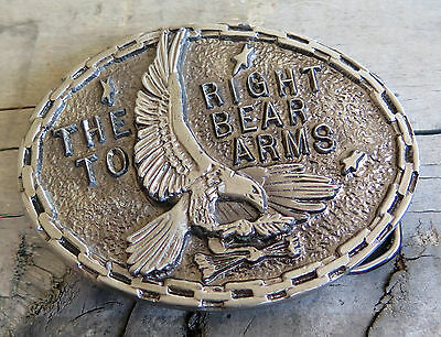 The Second Amendment The Right To Bear Arms Guns Firearms Vintage Belt Buckle