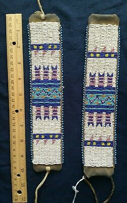 19th Century Native American Beaded Arm Bands