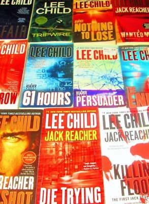 """LEE CHILD """"Jack Reacher"""" Book Lot of 11 -PAPERBACKS-61 Hours, One Shot, The Affa"""