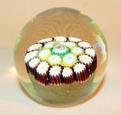 MILLEFIORI MURANO Old VENETIAN ART GLASS PAPERWEIGHT AVENTURINE Beautiful