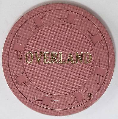 1965 Overland Hotel .25 1st Edition Casino Chip Pioche NV